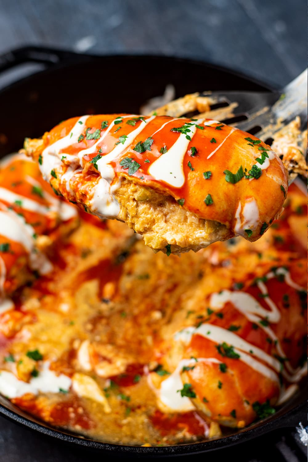 Cheesy Buffalo Stuffed Chicken Recipe