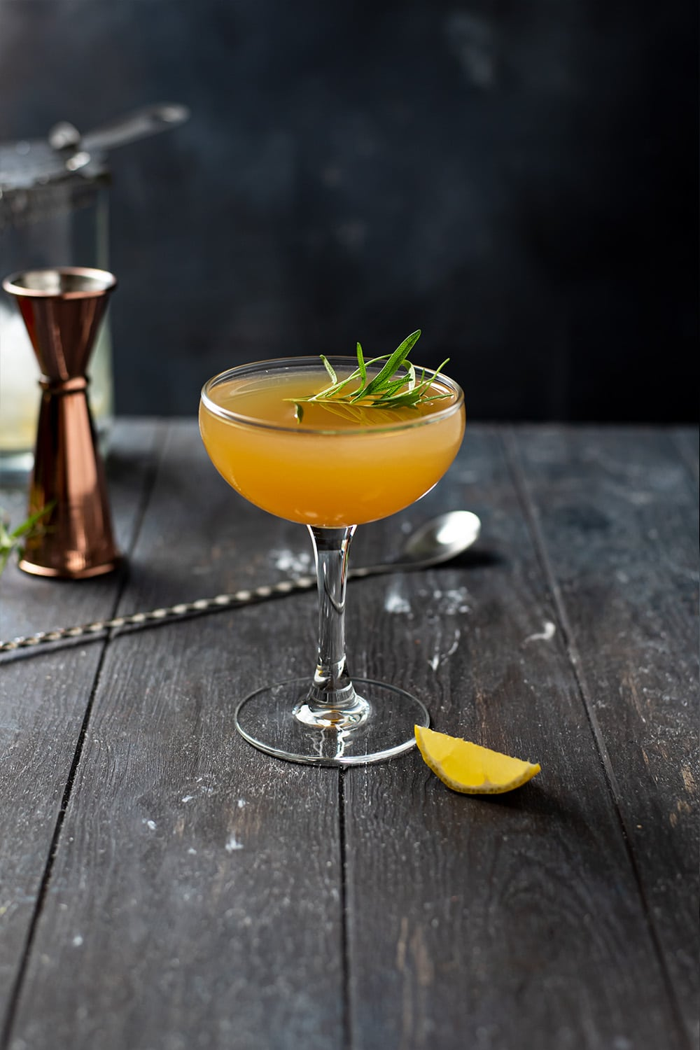 Gold Rush Cocktail With a Rosemary Twist