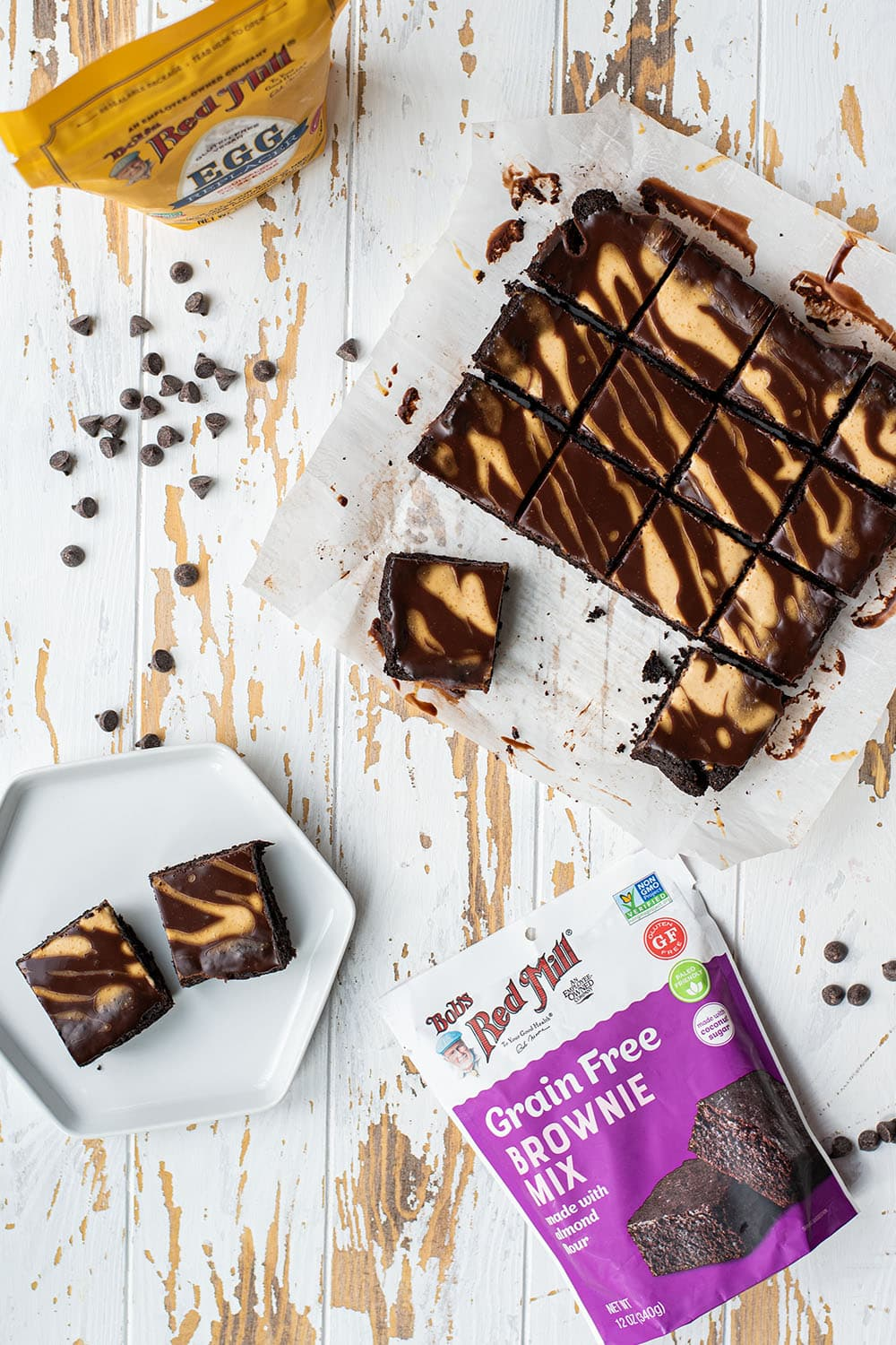 Chocolate Peanut Butter Swirl Brownies Recipe (Gluten & Egg Free)